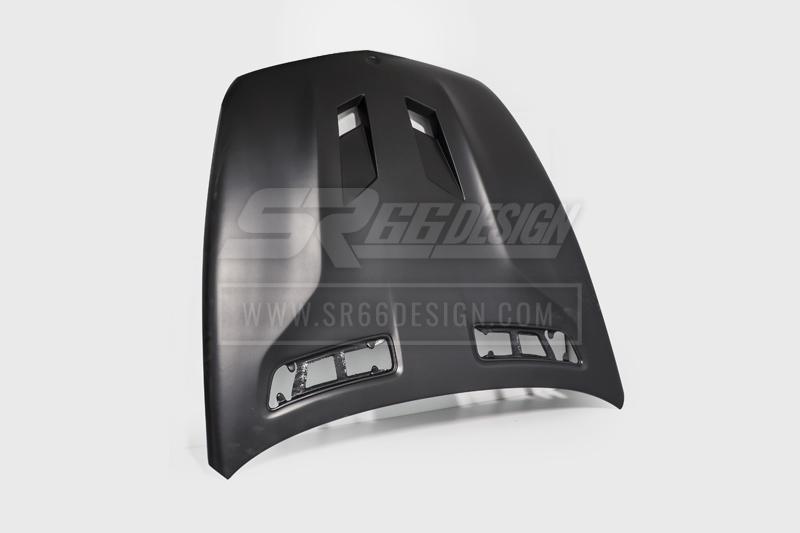 hood (bonnet) - Mercedes CL C216 (W216) SR66 wide body kit