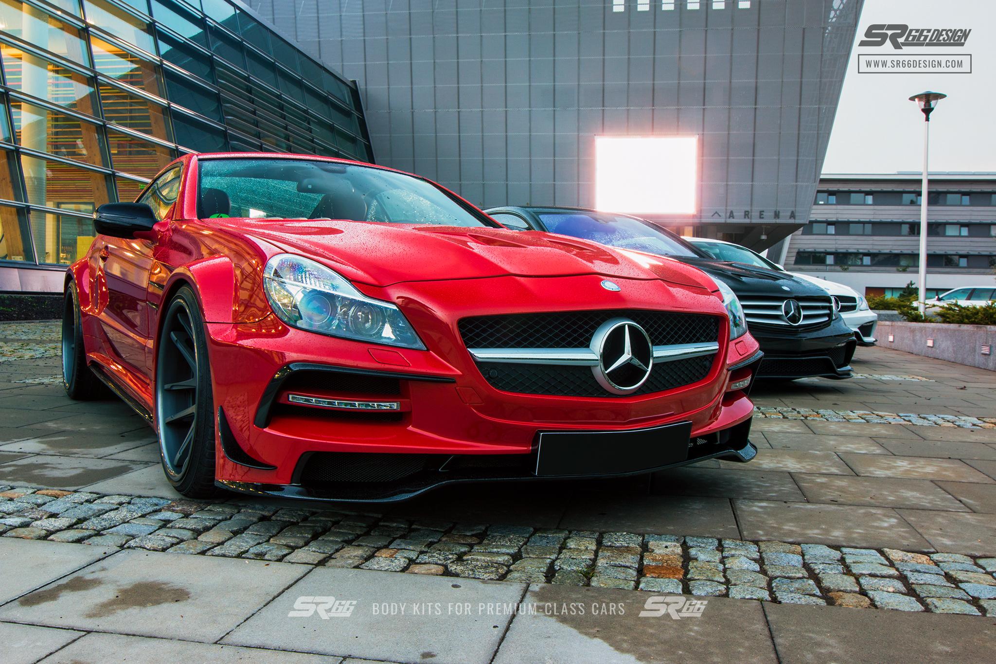 Mercedes-Benz SL R230 SR66.1 wide body kit