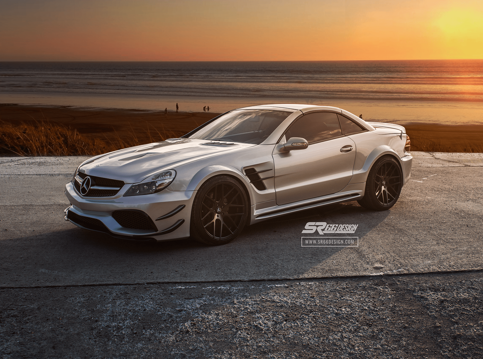 Mercedes-Benz SL R230 SR66.2 wide body kit