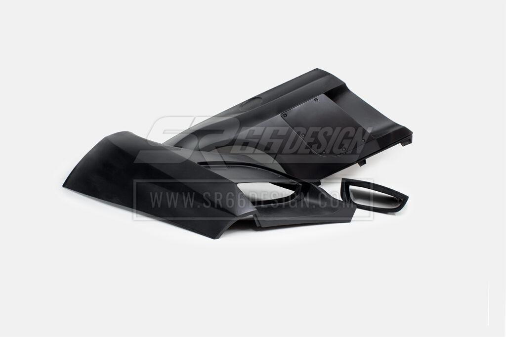 rear quarters - Audi R8 SR66 wide body kit